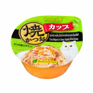 CIAO Grilled Skipjack Cup, Tuna (Maguro) in Gravy Topping Sliced Bonito Wet Cat Food, 70 gms-(C100-8065)