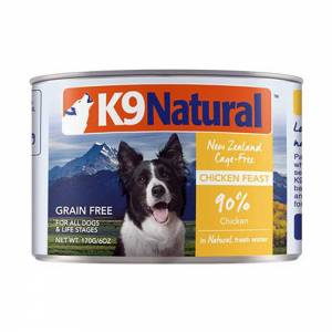 K9 Natural Chicken Feast Canned Dog Food-(D100-11018-02)