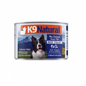 K9 Natural Beef Feast Canned Dog Food-(D100-11018-01)