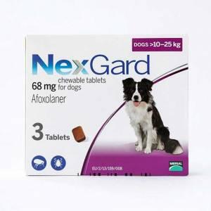 NexGard Chews For Medium Dogs 10-25 kg (24.1-60 lbs)-(NexGardMed)