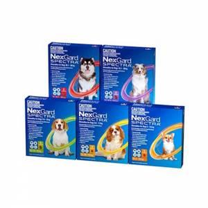 NexGard Spectra Chews For Dogs, 3 Pack-(Nex-Spectra)