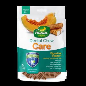 Happi Doggy Dental Chew Plus Digestive Support - Pumpkin & Mountain Yam-(HD002)