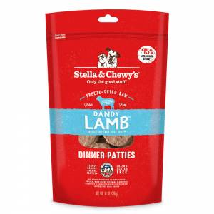 Stella & Chewy's Dandy Lamb Freeze-Dried Dinner Patties For Dogs 14 oz (397g)-(D100-7046-14)