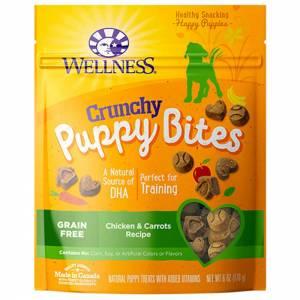 Wellness Puppy Bites Grain Free Crunchy Chicken & Carrots Dog Treats-(D100-2209)