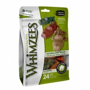 Whimzees Dental Dog Treats, Alligator-(D200-1001-0002)