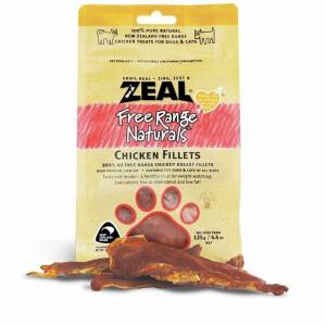 Zeal Free Range Naturals Dried Chicken Fillets - Treats For Dogs & Cats-(ZCF01)