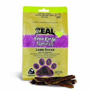 Zeal Free Range Naturals Dried Lamb Sticks - Dog Treats, Pack Of 3 At Price Of 2-(ZLS01-K3)