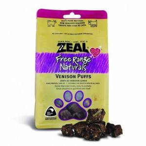 Zeal Free Range Naturals Dried Venison Puffs - Treats For Dogs & Cats, Pack Of 3 At Price Of 2-(ZVP01-K3)