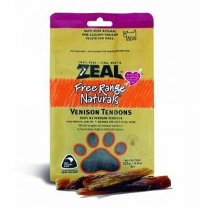 Zeal Free Range Naturals Dried Venison Tendons - Dog Treats, Pack Of 3 At Price Of 2-(ZVT01-K3)