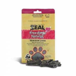 Zeal Free Range Naturals Dried Venison Liver - Dog Treats-(ZVL01)