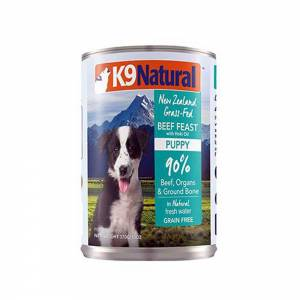 K9 Natural Beef Feast With Hoki Oil Canned Puppy Food-(D100-11018-04)