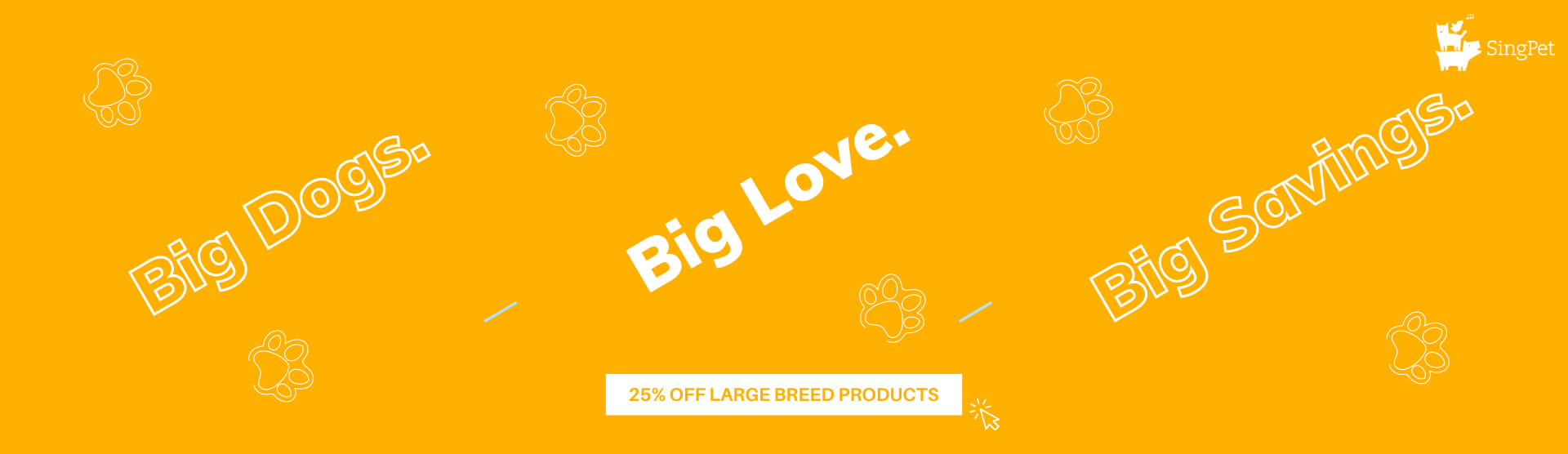25% off large breed products